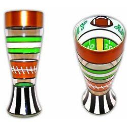 Football Handpainted Pilsner Glass
