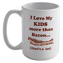 Personalized Love You More Than Bacon Mug