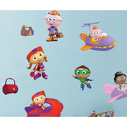 Super Why Removable Wall Decals