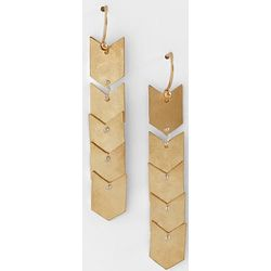 Handcrafted Gold Chevron Earrings