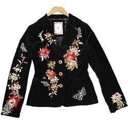 Shizuka Embroidered Corduroy Jacket