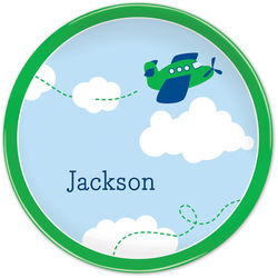 Boy's Personalized Airplane Plate
