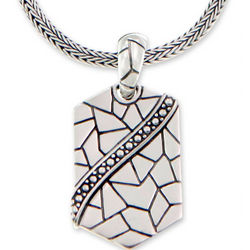 Cobblestones Men's Sterling Silver Necklace