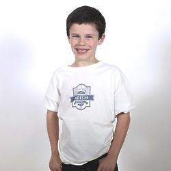 Personalized First Communion T-Shirt in White and Blue