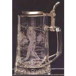 Personalized Glass Golfer Stein