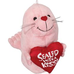 Valentine's Day Sealed with a Kiss Plush Seal