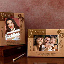 Personalized My Birthday Memories Wooden Picture Frame