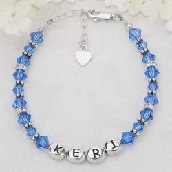Personalized Girls Birthstone Bracelets