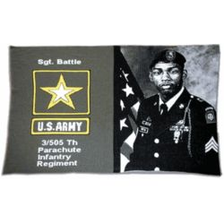 Personalized Military Photo Throw
