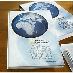 Personalized Deluxe 9th Edition Atlas of the World