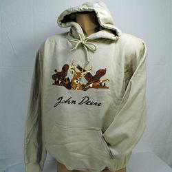 John Deere Hoodie with Wildlife