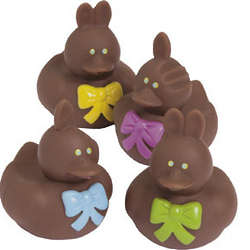 Chocolate Easter Bunny Rubber Duckies
