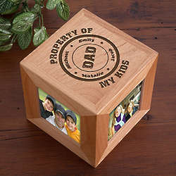 Property of My Kids Personalized Photo Frame Cube