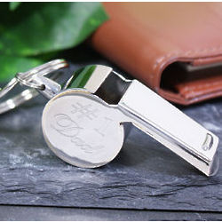 Engraved # 1 Dad Stainless Steel Whistle