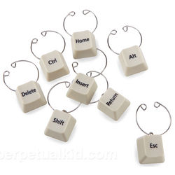 Keyboard Wine Charms