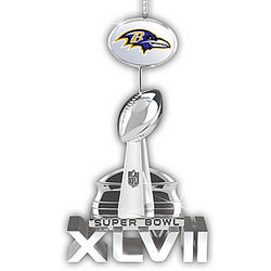 Baltimore Ravens 2012 Super Bowl Champions Trophy Ornament