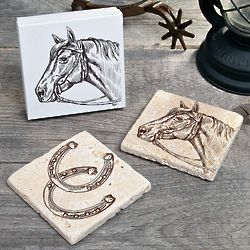 Giddy Up Stone Coasters