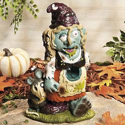 Zombie Girl Garden Gnome