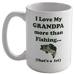 Personalized Love You More Than Fishing Mug