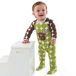 Baby's Moose Footed One Piece Bodysuit