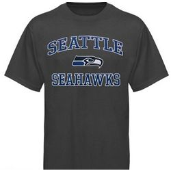 Seattle Seahawks Charcoal Big Size T-Shirt
