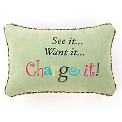 See It Want It Charge It Pillow