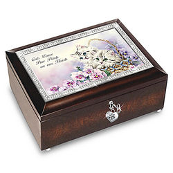 Cats Leave Paw Prints On Our Hearts Music Box