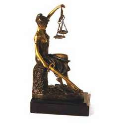 Bey Berk Seated Lady Justice Sculpture
