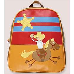 Personalized Cowboy Design Vinyl Backpack
