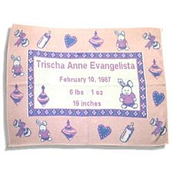 Personalized Baby Girl Throw