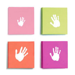 Pop Art Canvas Baby Handprint Set in Pink