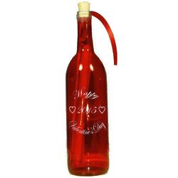 Valentine's Day 2017 Engraved Message In A Bottle