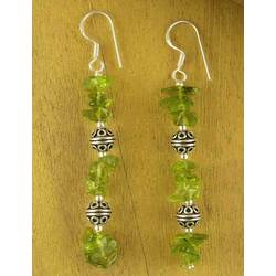 'Precious' Peridot Drop Earrings
