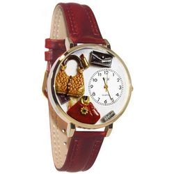 Purse Lover Whimsical Watch in Large Gold Case