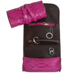 Cayman Leather Small Jewelry Roll