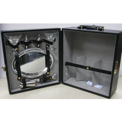 3 Bottle Travel Bar Case with Serving Tray