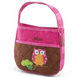 Girl's Pink and Brown Owl Purse
