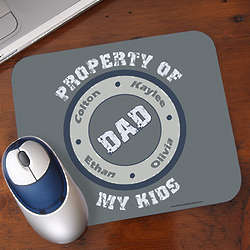 Property of My Kids Personalized Mouse Pad
