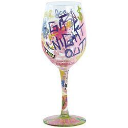 Graffiti Wine Glass
