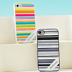 Personalized Happy Stripes iPhone Case