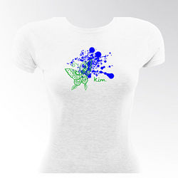 Personalized Flirty Gal Fitted Butterflyink T-Shirt