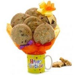 Birthday Coffee Mug Cookie Bouquet