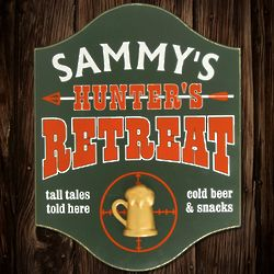 Personalized Hunter's Retreat Wooden Sign