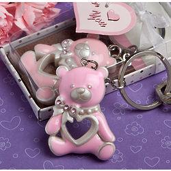 Pink Teddy Bear Key Chain