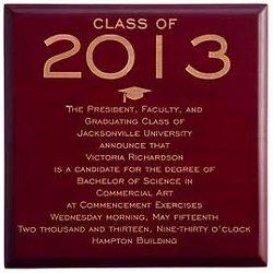 Personalized Graduation Invitation Trinket Box