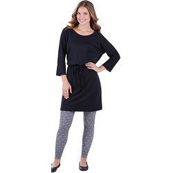 Little Black PJ Dress with Leggings