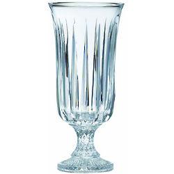 Crystal Clara 14 Inch Footed Vase