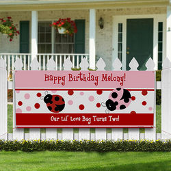 Ladybug Personalized Birthday Banner