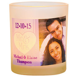 Wedding Mr. & Mrs. Custom Photo Votive Candle Holders