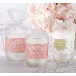 Personalized Glass Votive Candle Favors